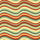 Waves in retro colours, abstract seamless pattern Royalty Free Stock Image