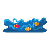 Waves river isolated icon. Vector illustration design Royalty Free Stock Photography