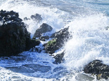 Waves and rocks Royalty Free Stock Photography
