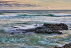 Waves and rocks on the coast Royalty Free Stock Images