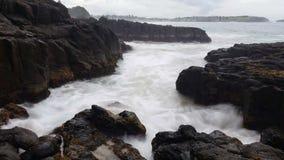 Waves on Rocks Ocean Dreamy Seascape stock video