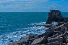 Waves & Rocks royalty free stock image