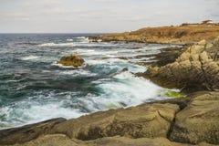 Waves Rocks Sea Seashore View Stock Photos