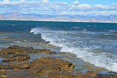 Waves on Rocks Stock Image