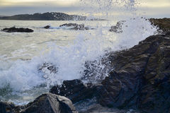 Waves on rocks Royalty Free Stock Photography