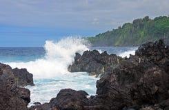 Waves on a Rocky Coast Stock Photography