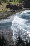 Waves and Rocky Shore Stock Image