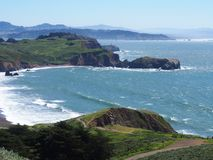 Rodeo Beach, California. Waves roll into Rodeo Beach just north of San Francisco in Marin County, California Stock Photos