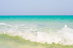 Waves rolling upon a sunny shore Stock Photography