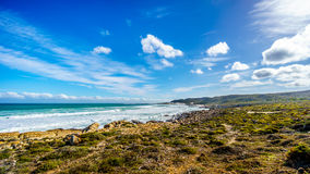 Waves rolling on to the shoreline of the Atlantic Ocean coast at Cape of Good Hope Stock Images