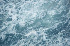 Waves in rough choppy winter sea Stock Photo
