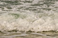 Waves Rushing to Shore Stock Photography