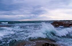 Waves at Salmon Rocks, Victoria, Australia royalty free stock photography