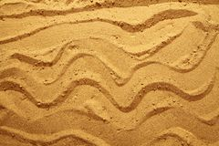Waves in the sand Royalty Free Stock Photos