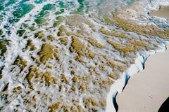 Waves & Sand Background Stock Photos