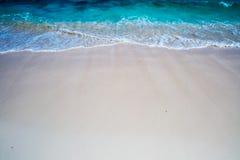 Waves & Sand Background Stock Photo