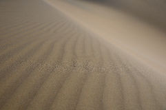 Waves in the sand dunes Royalty Free Stock Photos