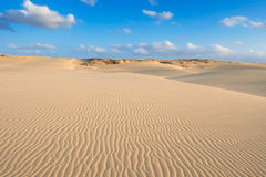 Waves on sand dunes  in Chaves beach Praia de Chaves in Boavist Stock Photography