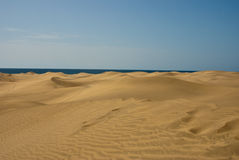 Free Waves Sand Dunes In Desert With Sea Stock Images - 21479554
