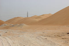 Waves of sand mountain Stock Image
