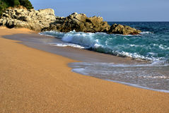 Waves. Sand. Stock Photo