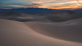 Waves of sand on top of the dunes. Sunrise. Desert in Mesquite F Stock Photos