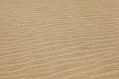 Waves of sand. Wind marks on beach sand Stock Photos