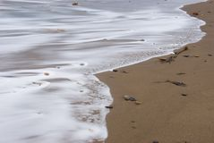 Waves on Sandsend Beach Royalty Free Stock Image