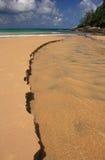 Waves on the sandy beach Royalty Free Stock Photos