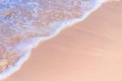 Waves on sandy beach Royalty Free Stock Image