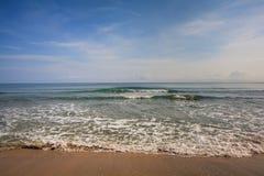 Waves on a Sandy Caribbean Beach stock photography