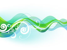 Waves and scroll. Vector abstract background Royalty Free Stock Images