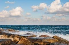 Waves on the sea Stock Photos