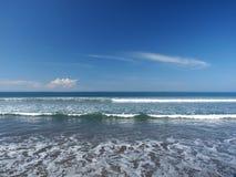 Waves of sea. On Caletas Beach (Playa Caletas), Costa Rica, Central America Royalty Free Stock Photos