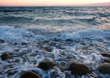 Waves on the sea Stock Image