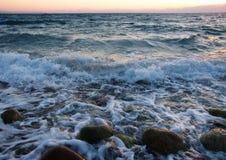 Waves on the sea. Big waves on the sea Stock Image