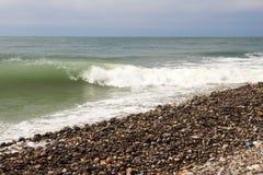 Waves of the sea. The waves of the sea. The area of the Big Sochi, Lazarevskoye, Russia Stock Photos