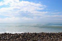 Waves of the sea. The waves of the sea. The area of the Big Sochi, Lazarevskoye, Russia Royalty Free Stock Photography