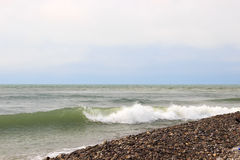 Waves of the sea. The waves of the sea. The area of the Big Sochi, Lazarevskoye, Russia Royalty Free Stock Images