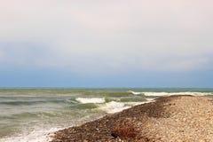 Waves of the sea. The waves of the sea. The area of the Big Sochi, Lazarevskoye, Russia Stock Images