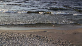 The waves of the sea stock footage