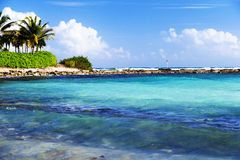 Waves, sea, blue sky Stock Image