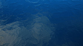 Waves of the sea. 3D illustration depicting the restless waves of the sea Stock Photo