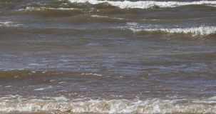Waves of the sea in the daytime in summer.  stock video footage