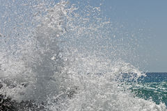 Waves of the sea. Falasarna beach, Crete, Greege Stock Image