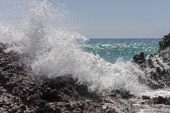 Waves of the sea. Falasarna beach, Crete, Greege stock photo