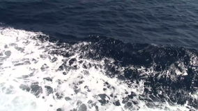 Waves on sea. Made by boat stock footage