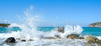 Waves of the sea. Mirabellno Bay Royalty Free Stock Photo