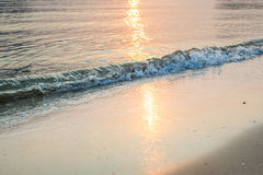 Waves sea with morning light Royalty Free Stock Photography