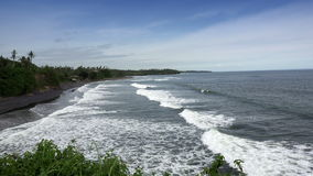 Waves of the sea roll on the stony coast, Bali, Indonesia stock footage